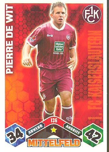 Match Attax 10/11 - PIERRE DE WIT - 136