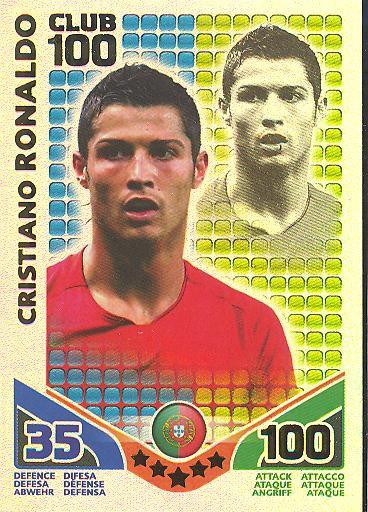 Match Attax WM 2010 - GER/Edition - Club 100 - CRISTIANO RONALDO - Portugal