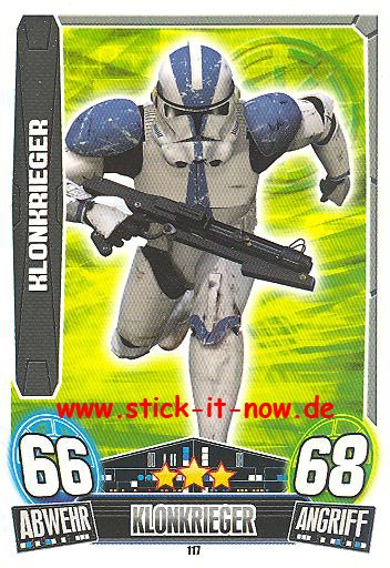 Force Attax Movie Collection - Serie 3 - KLONKRIEGER - Nr. 117