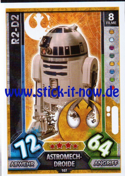 Topps Star Wars FORCE ATTAX UNIVERSE (2017) - Nr. 107