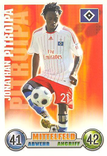 Jonathan Pitroipa - Match Attax 08/09 - Hamburger SV