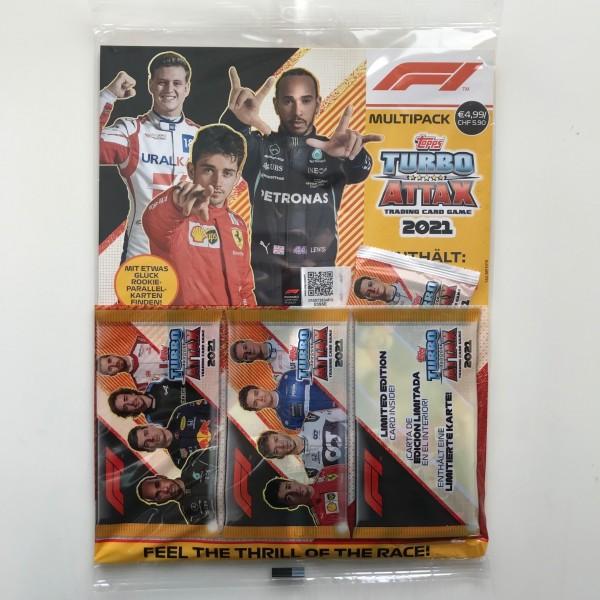 """Turbo Attax """"Formel 1"""" (2021) - Multipack (25 Karten)"""
