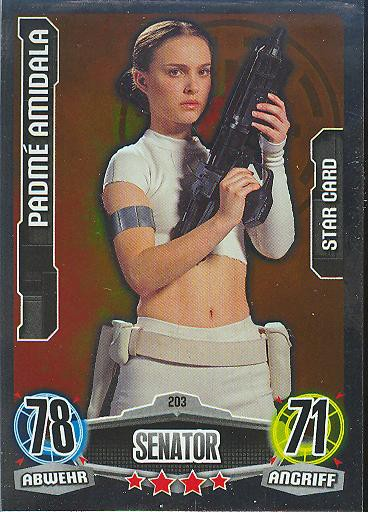 Force Attax - PADMÈ AMIDALA - STAR-CARD - Senator - Die Republik - Movie Collection