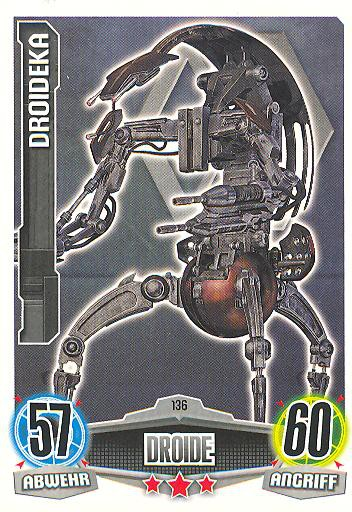Force Attax - DROIDEKA - Droide - Separatist - Movie Collection