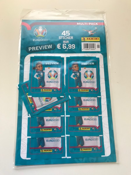 """Panini EM 2020 """"Preview-Collection"""" - Multipack (9 Tüten)"""