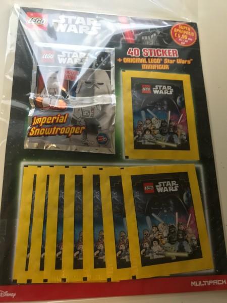 "Lego Star Wars ""Sticker-Serie"" (2020) - Multipack 3 ( 8 Tüten + Lego-Figur Snowtrooper )"