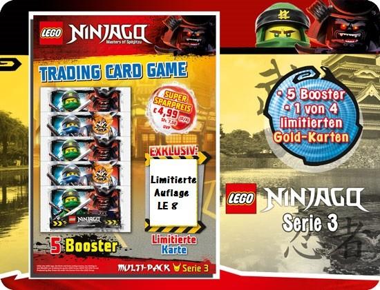 Lego Ninjago Trading Cards - SERIE 3 (2018) - Multipack 4 ( LE 8 )