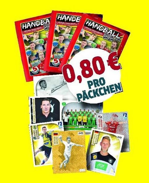 DKB Handball Bundesliga Sticker 18/19 - Stickertüte ( 5 Sticker )