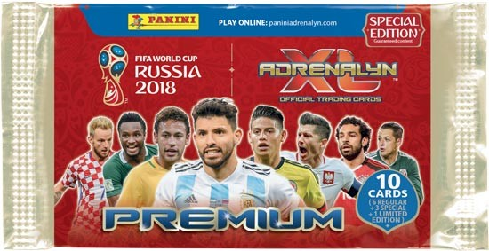 "Adrenalyn XL ""WM Russia 2018"" - Premium Special Edition Booster ( 10 Karten incl. 1 LE )"