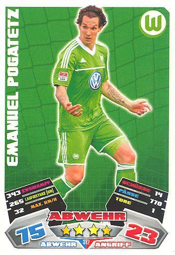 Emanuel Pogatetz Topps Bundesliga Chrome 13//14-169