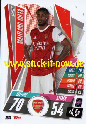 "Match Attax Champions League 2020/21 ""Update"" - Nr. ARS 8"