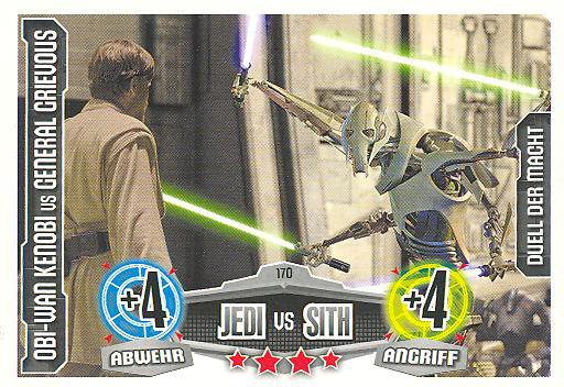 Force Attax - OBI-WAN KENOBI vs GENERAL GRIEVOUS - Duell der Macht - Jedi vs Sith - Movie Collection