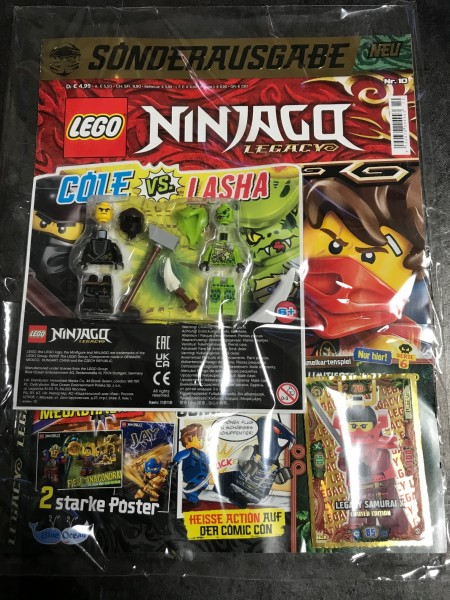 "Lego Ninjago Legacy Magazin Nr. 10 ( LE 20 ""Serie 6"" & 2 Lego Figuren )"