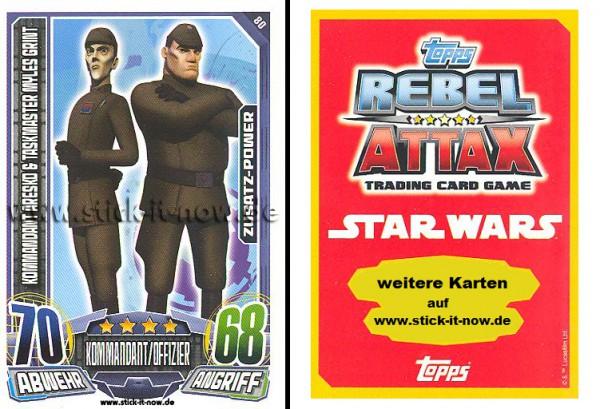 Rebel Attax - Serie 1 (2015) - KOMMANDANT ARESKO & TASKMASTER MYLES GRINT - Nr. 80