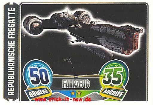 Force Attax - Star Wars - Clone Wars - Serie 5 - Republikanische Fregatte - Nr. 45