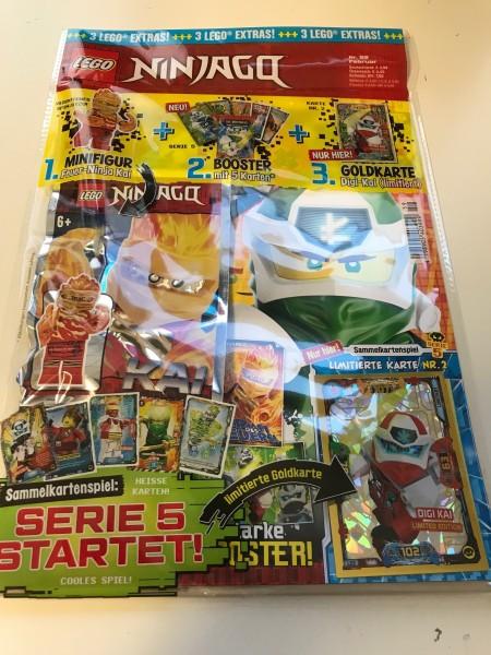 Lego Ninjago Magazin Nr. 59 (mit Lego Figur, Booster Ninjago 5 & LE 2)